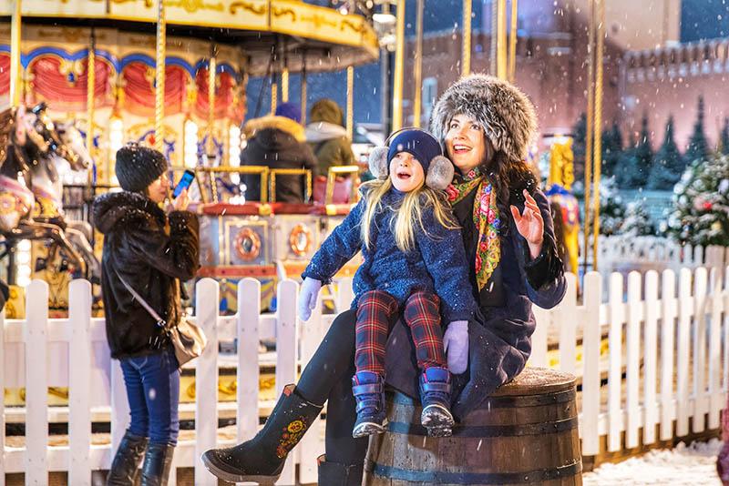 (组图)新年将至 莫斯科红场节日气氛浓郁