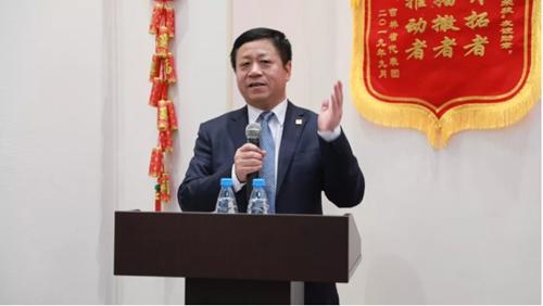 """张汉晖大使出席庆祝新中国成立70周年暨库利科娃女士荣获""""友谊勋章""""大会"""
