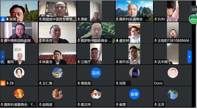 俄罗斯华侨华人举行纪念《反分裂国家法》实施十五周年视频座谈会